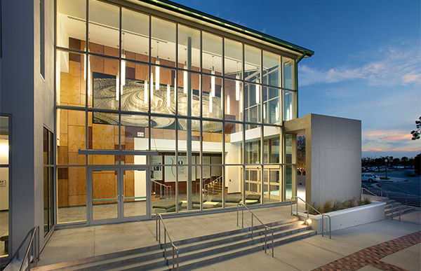 Exterior of FGCU Fine Arts building.