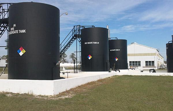 Large tanks.