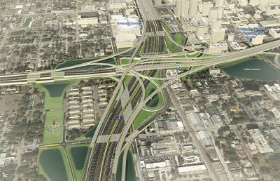 Aerial rendering of I-4 Ultimate.