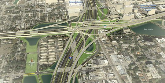 Aerial rendering of I-4 Ultimate.