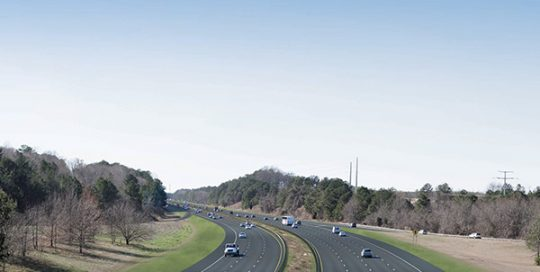 Rendering of I-40 - I-440 Reconstruction.