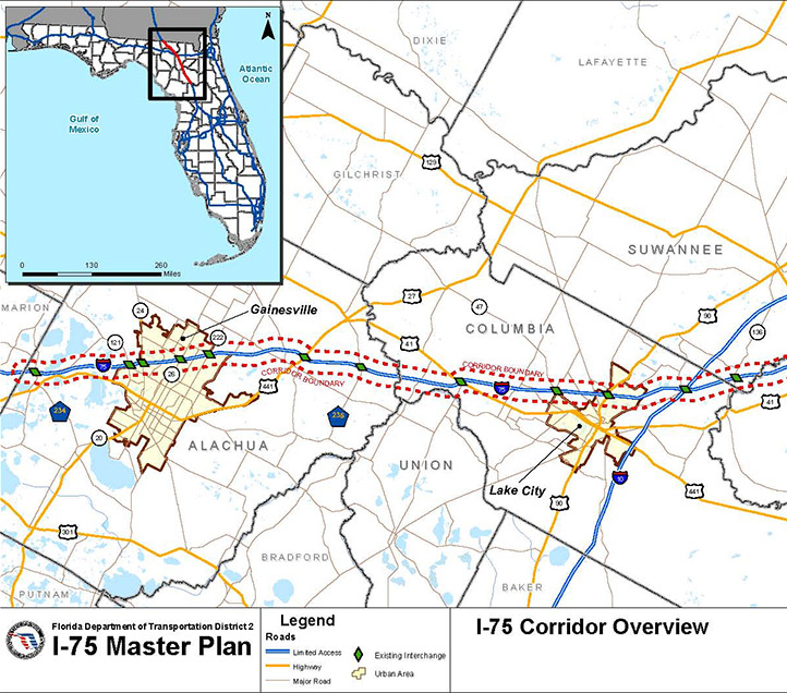 I-75 Master Plan and Traffic ysis - RS&H, Inc on i-355 map, airport map, i-95 map, georgia map, i-81 map, i-64 map, kentucky map, i-77 map, ohio map, i-35w map, garden state parkway map, i-35 map, i-271 map, i-294 map, i-70 map, us interstate highway system,