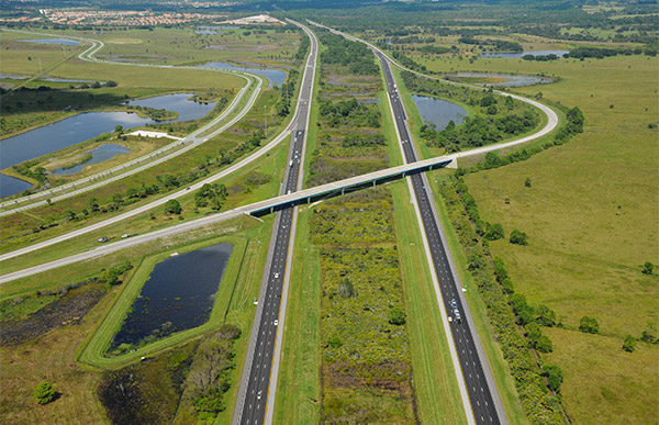 Aerial of I-75 North River Road.