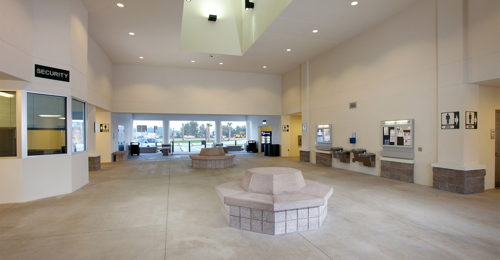 Interior of I-75 rest area.