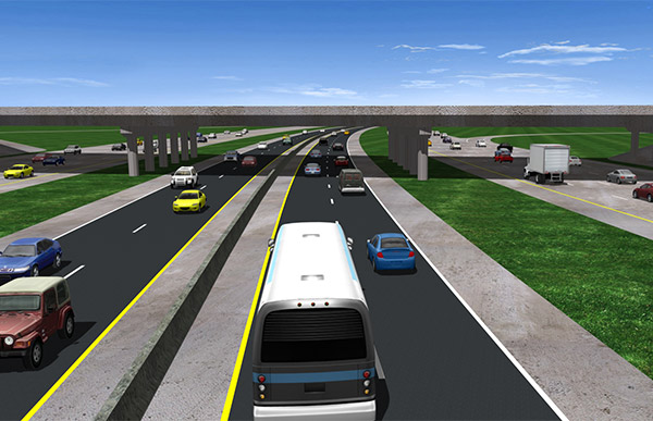 Rendering of the I-75 express lanes.