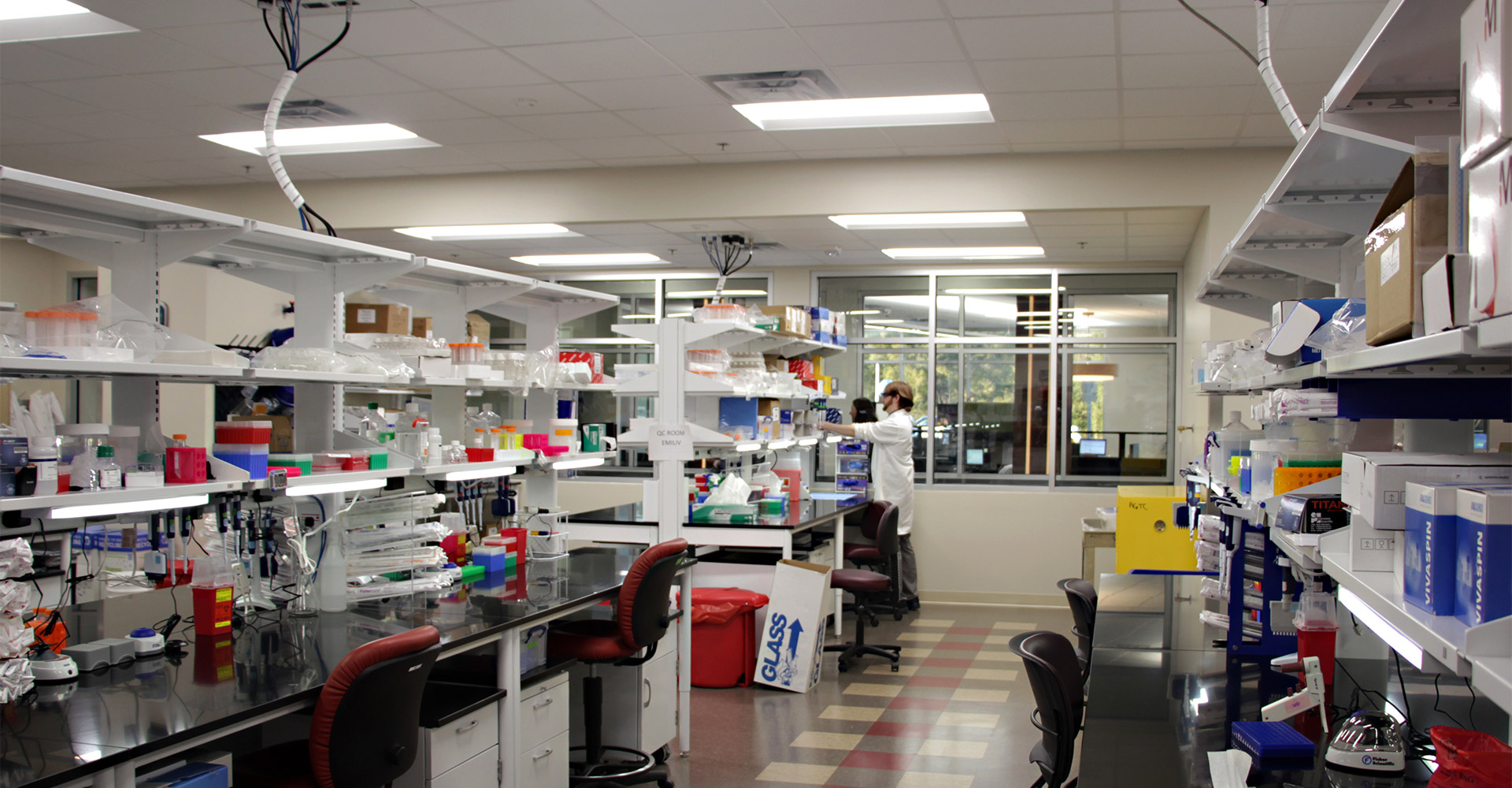 Interior lab at Foundation Park.