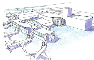 Rendering of Jackson Evers International Airport.