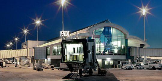 Exterior of Jacksonville International Airport.