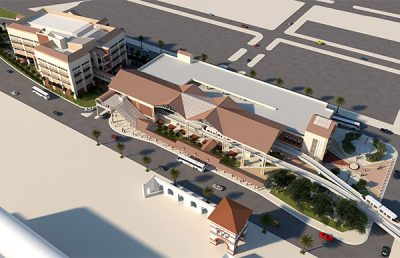 Rendering of JRTC Skyway Shops Plaza.