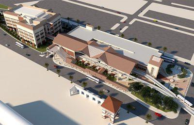 Rendering of JRTC Skyway Shops Plaza.