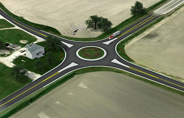 Rendering of intersection at Little Rock Road.