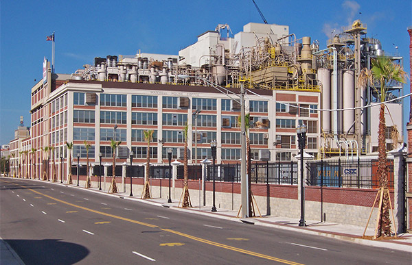 Exterior of Maxwell House plant.