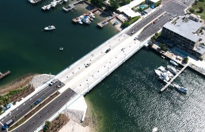 Aerial of Little Blue Heron Bridge.