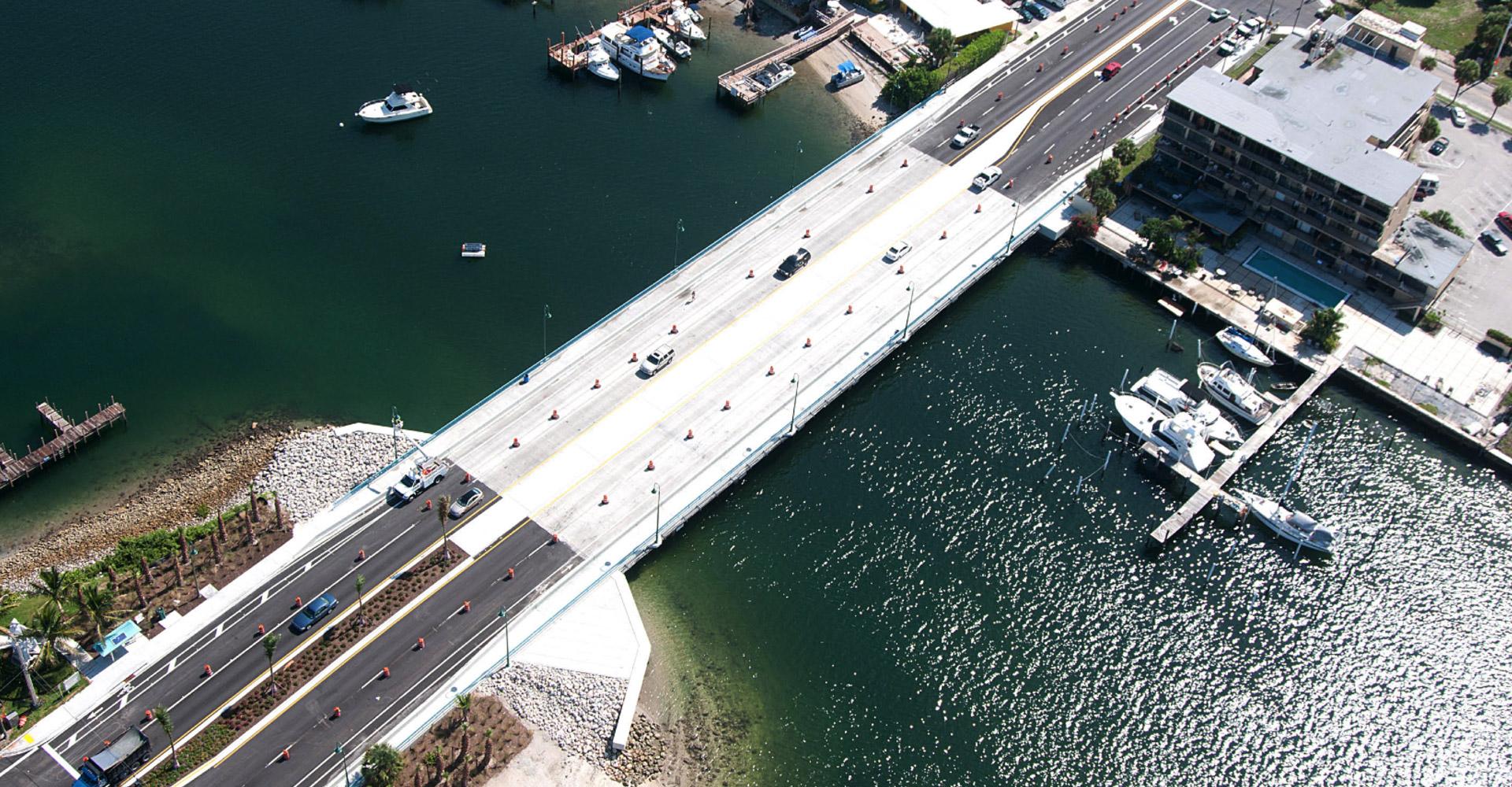 Aerial of Little Blue Heron Bridge.