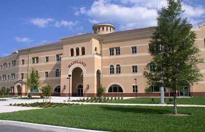 Exterior of Mainland High School.