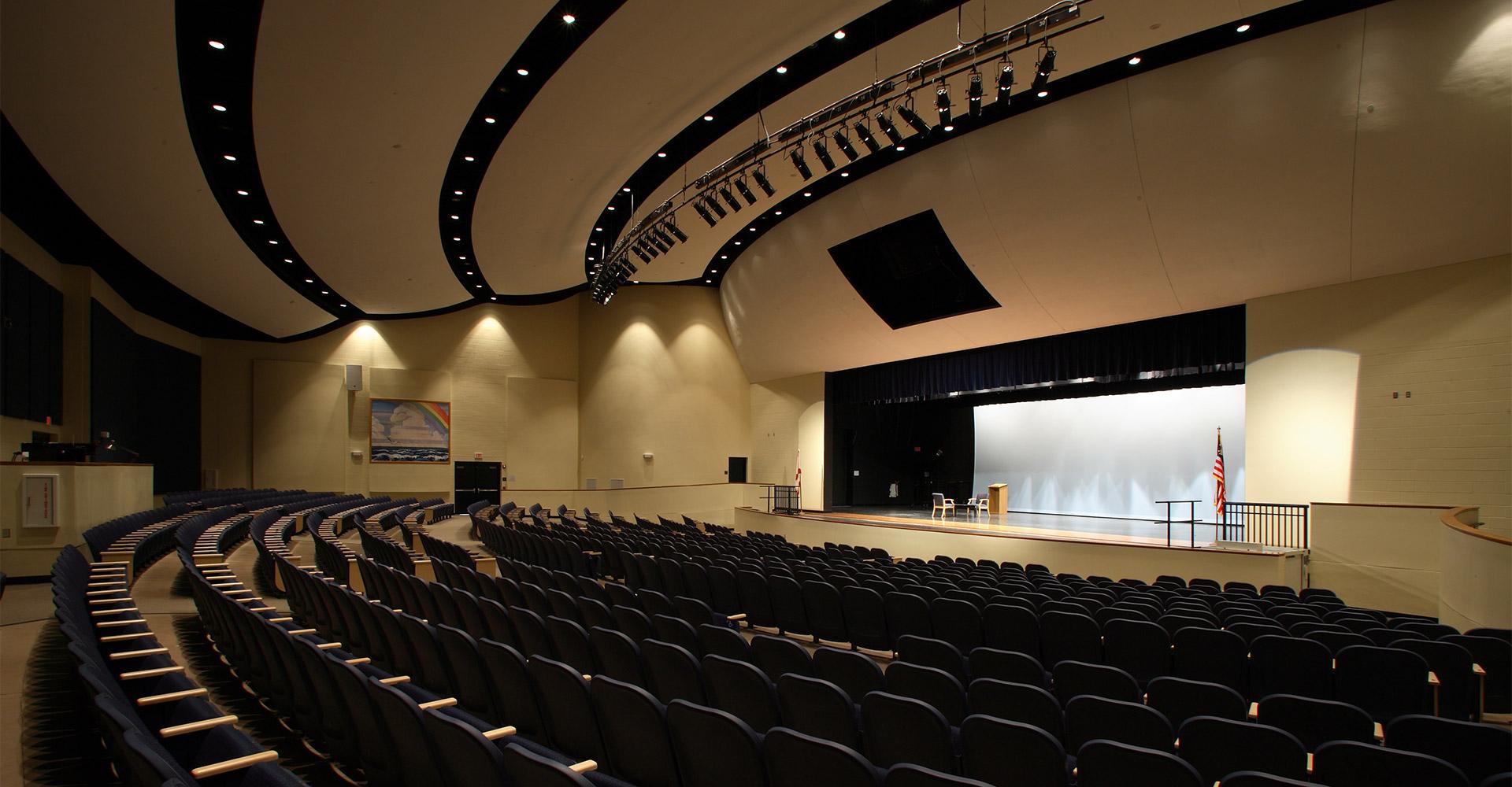 Auditorium at Mainland High School.