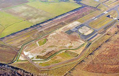 Aerial of Manassas Runway 34A.