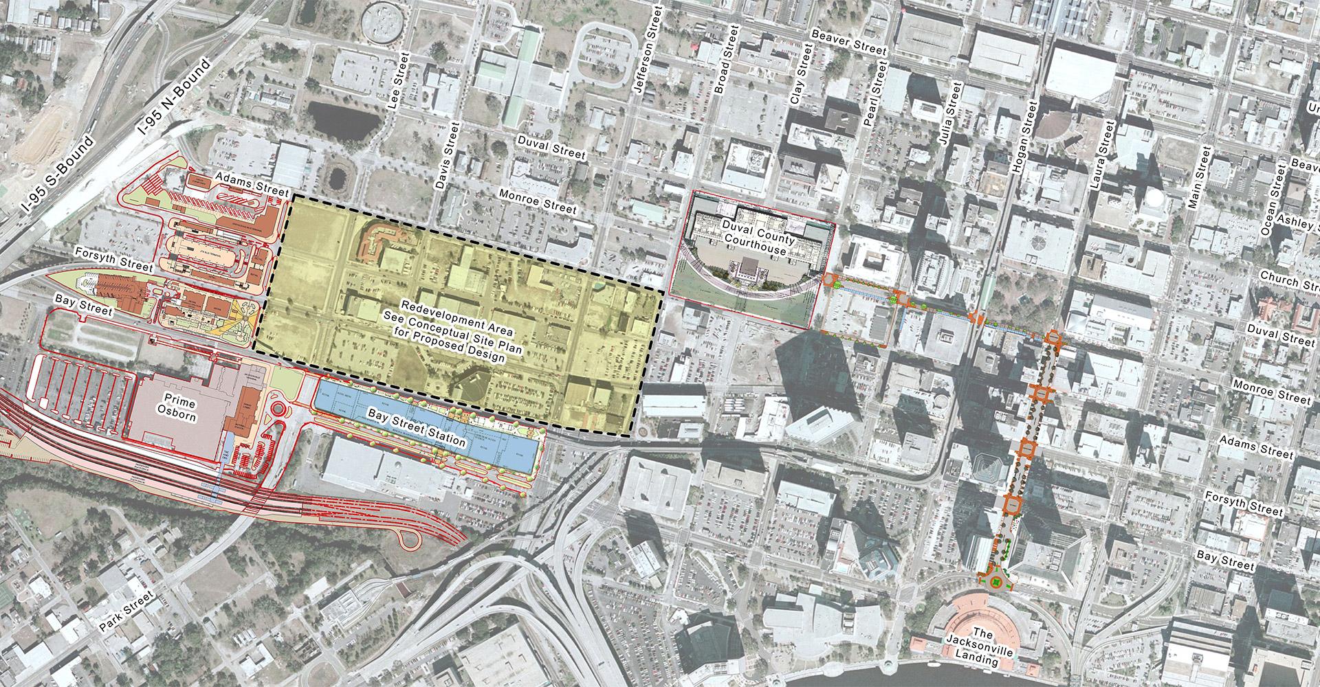 Jacksonville transit map.