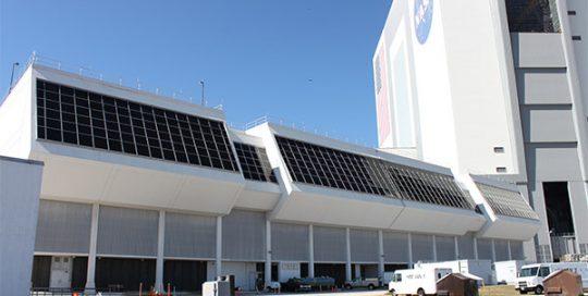 Exterior of NASA Control Center.