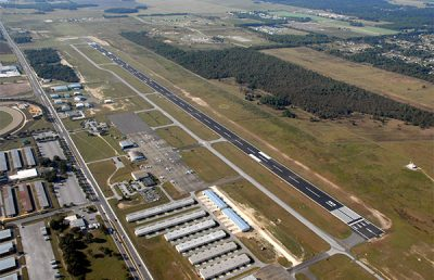 Aerial of Ocala International Airport.