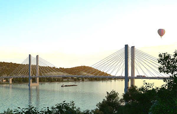 Rendering of new Ohio river crossing.