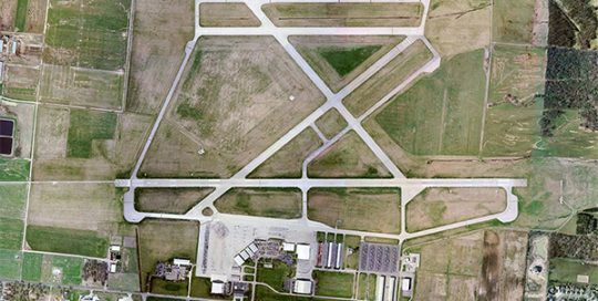 Aerial of OSU Airport.