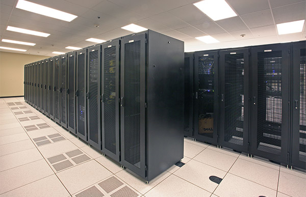 Servers in a managed services center.