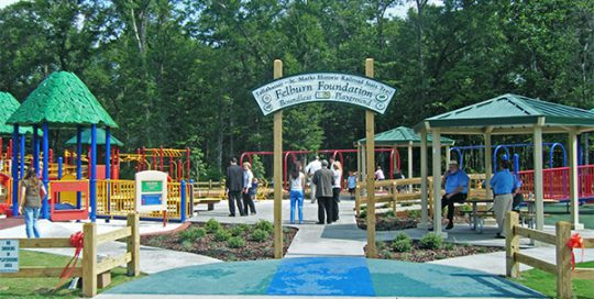 Entrance to Felburn Foundation Boundless Playground.