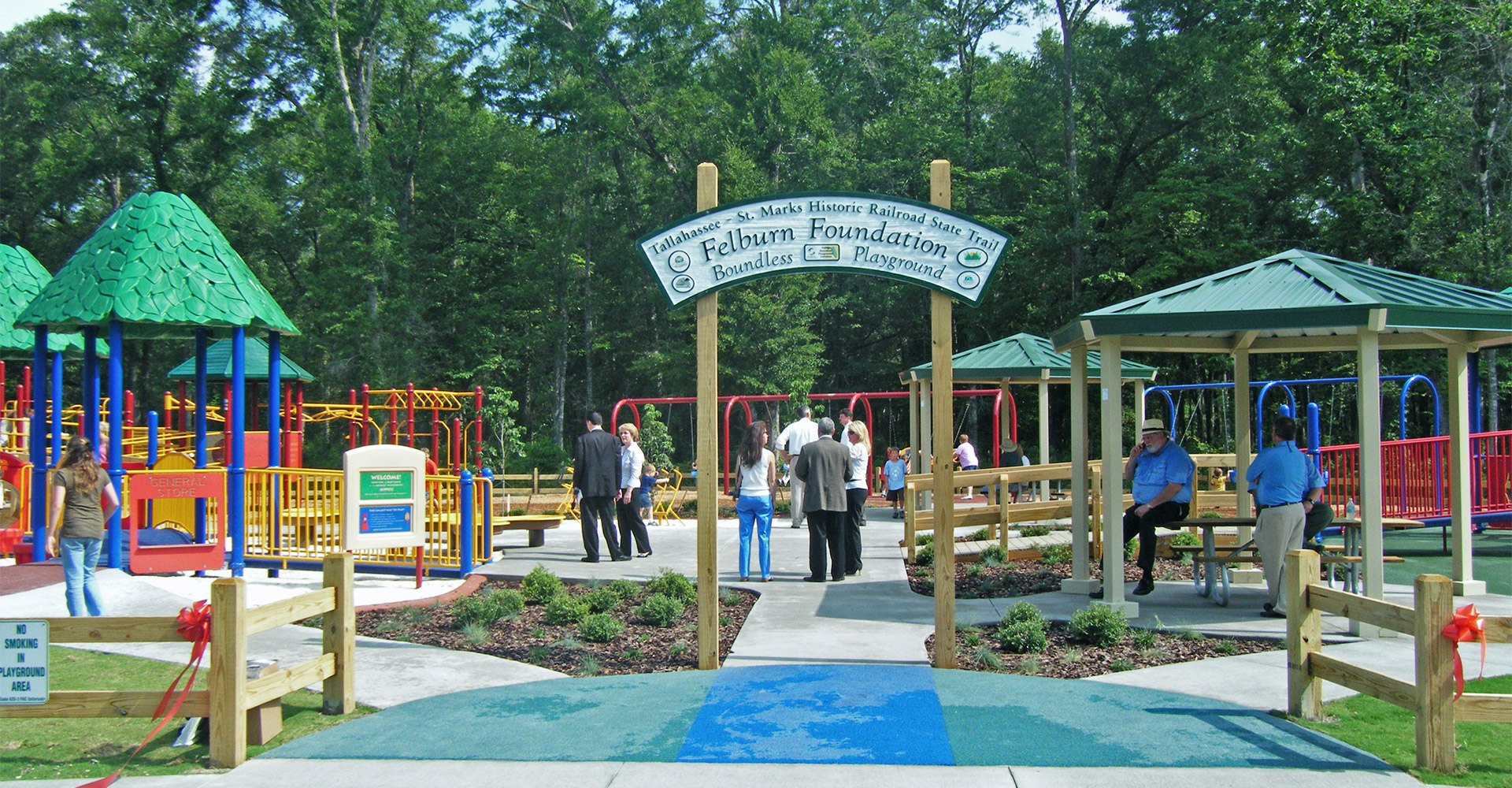 Entrance to Felburn Foundation Boundless Playground.