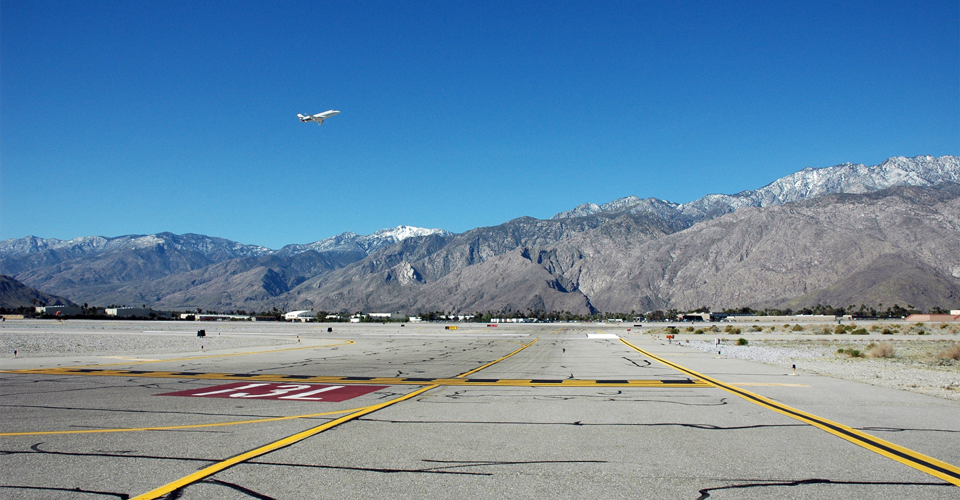 Runway at Palm Springs International Airport.