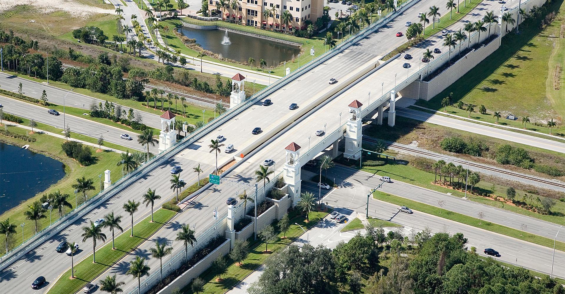 Aerial of PGA Boulevard.