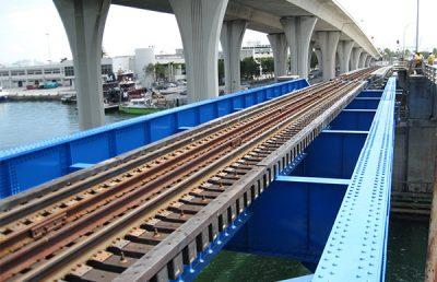 Port of Miami bridge.