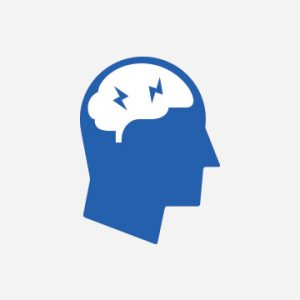 Thoughts in brain icon - Professional development.