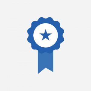Award ribbon icon.