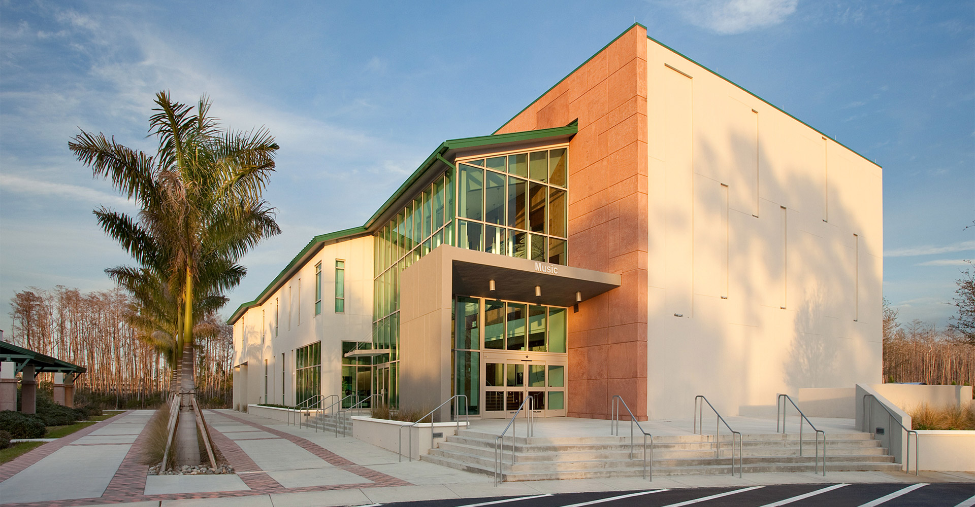 Florida Gulf Coast University Fine Arts Building.