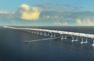 Rendering of Shands Bridge.