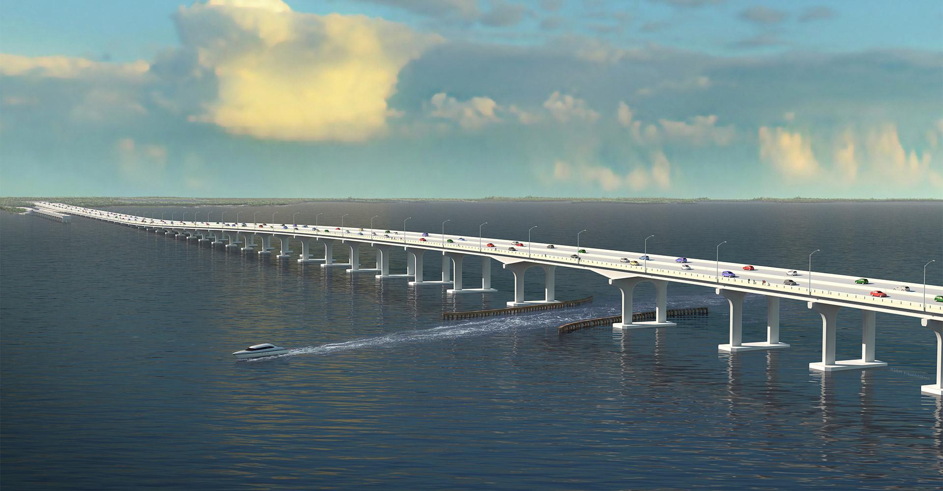 Rendering of Shands Bridge.