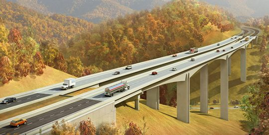 US Route 460 Connector Phase I Design-Build.