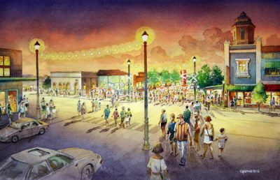 Street view drawing of New Port Richey plan.