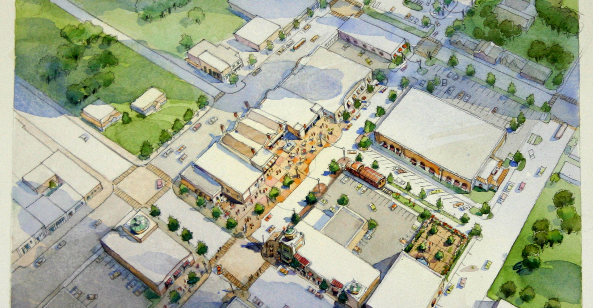 Aerial drawing of New Port Richey plan