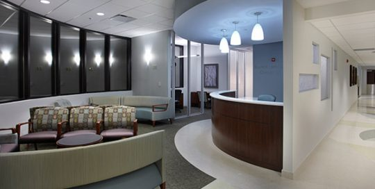 Interior of Baptist Health Women's Center.