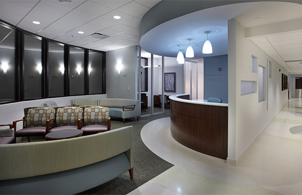 Interior of Baptist Health Women's Center.