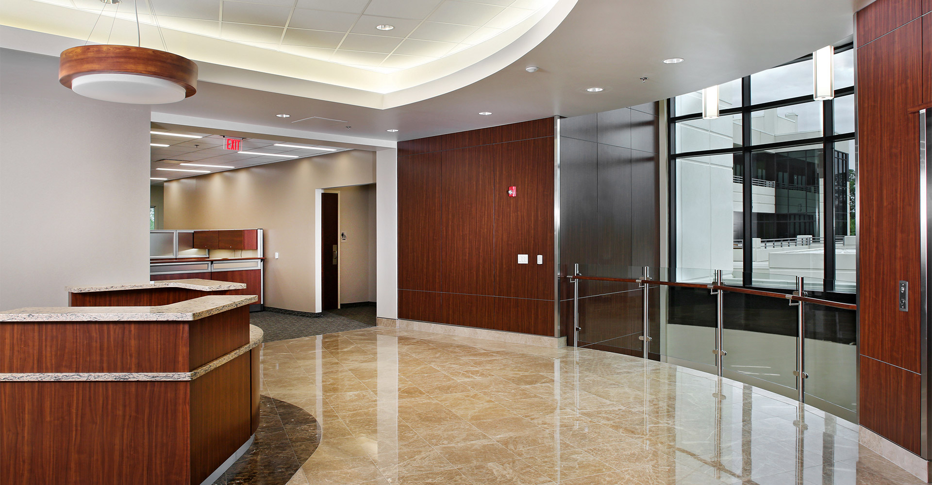 Borland Groover Upper Reception Area.