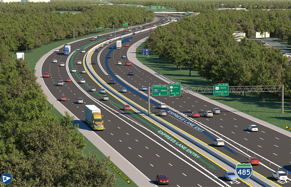 I-485 Express Lanes Featured Image.