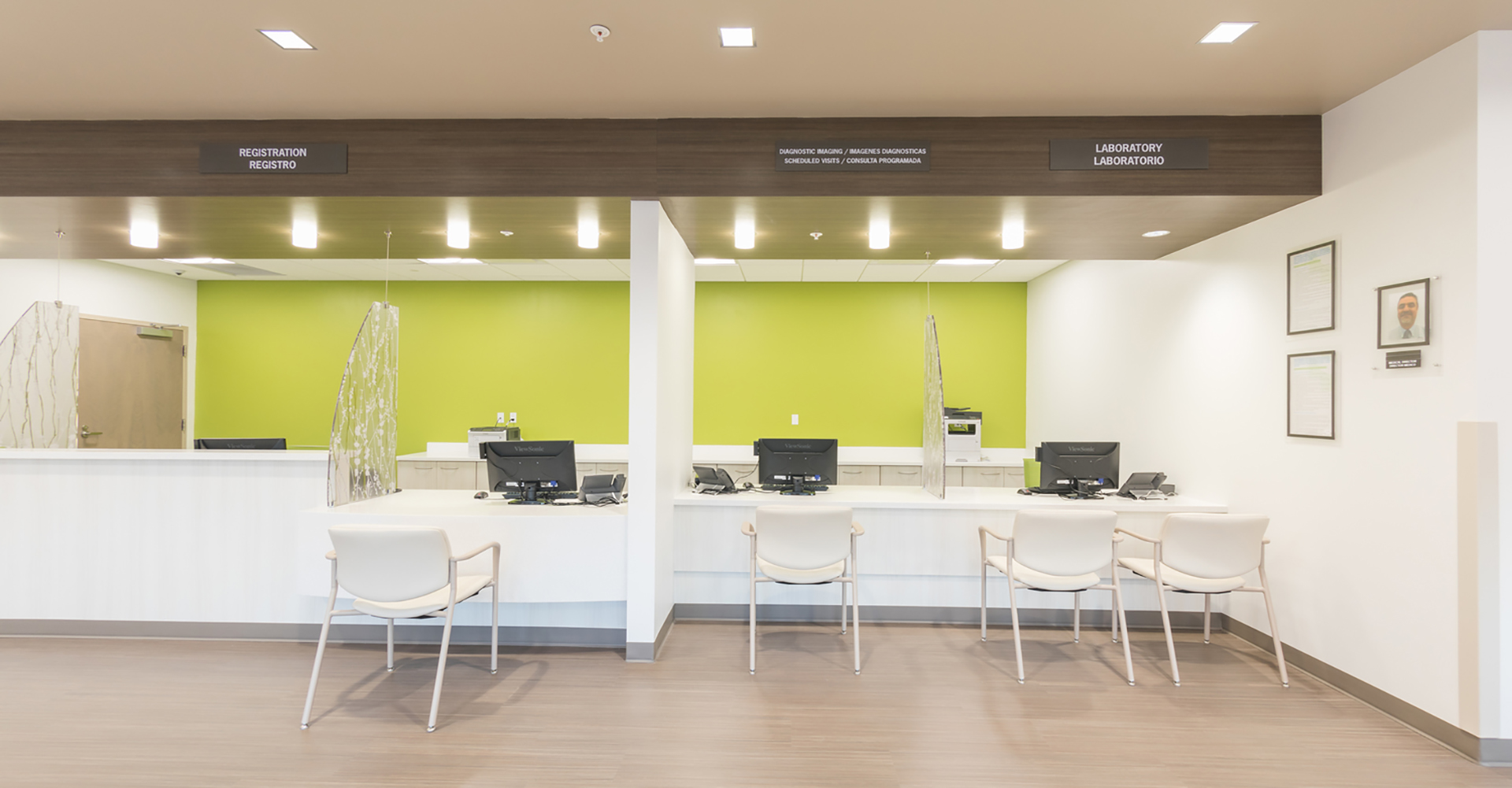 Primary Care Clinics Green Wall.