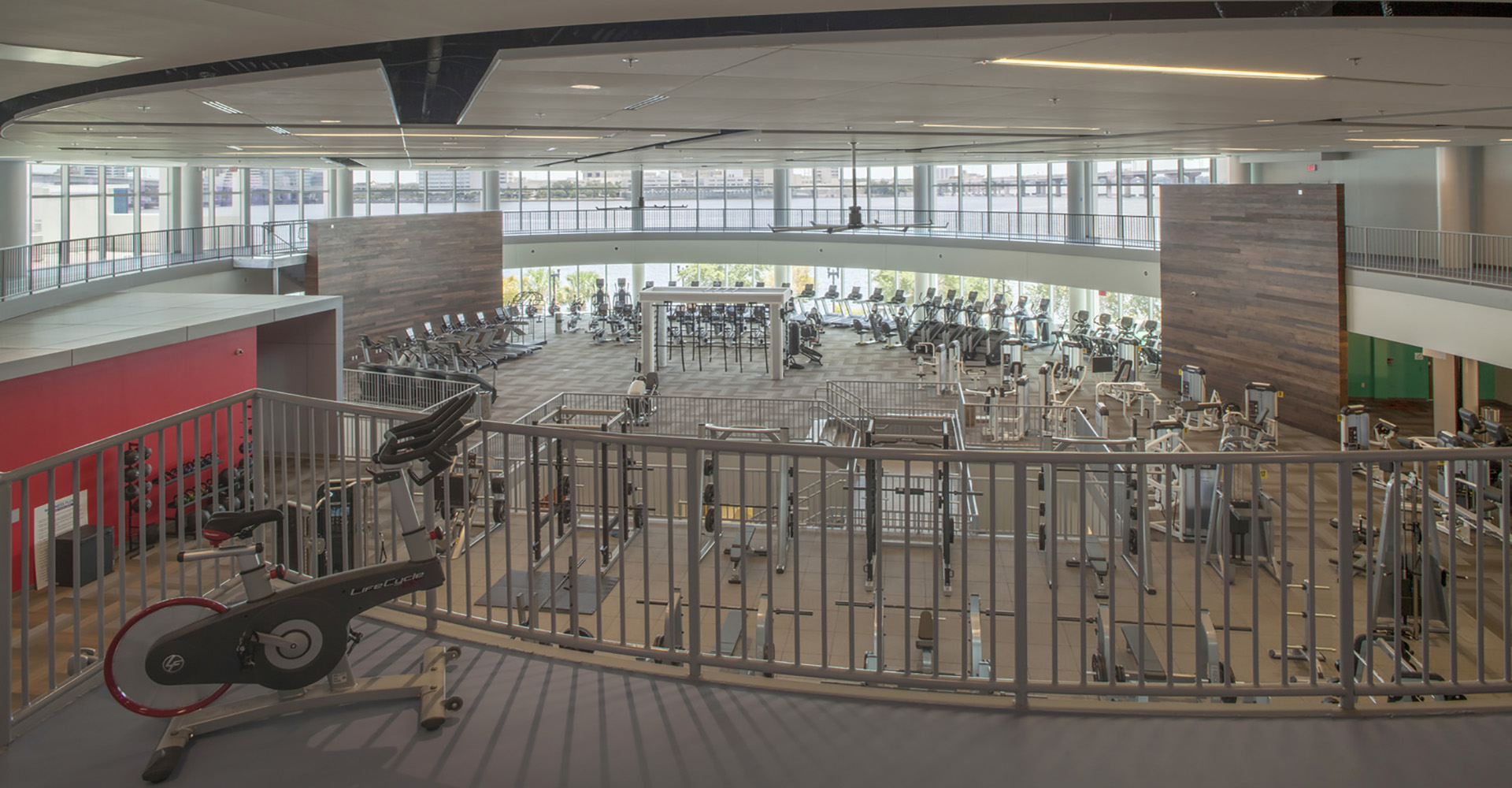Winston Family YMCA Upstairs Gym View.