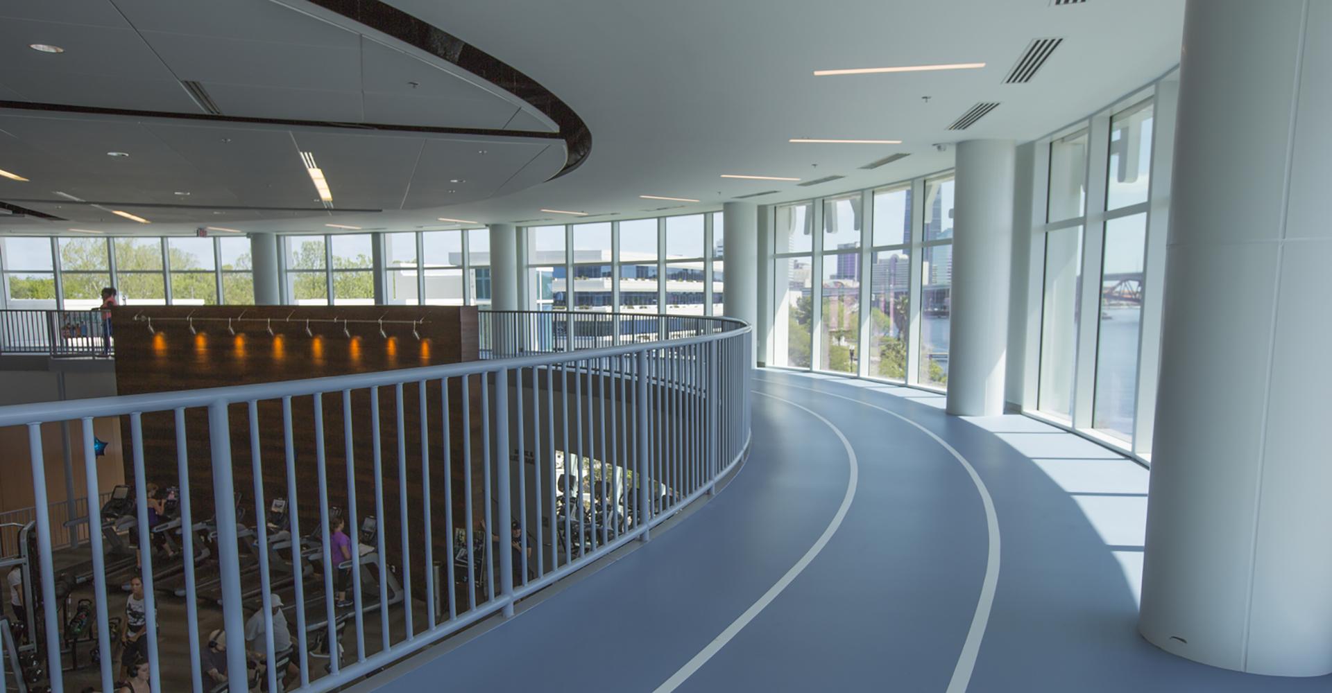 Winston Family YMCA Upstairs Track.