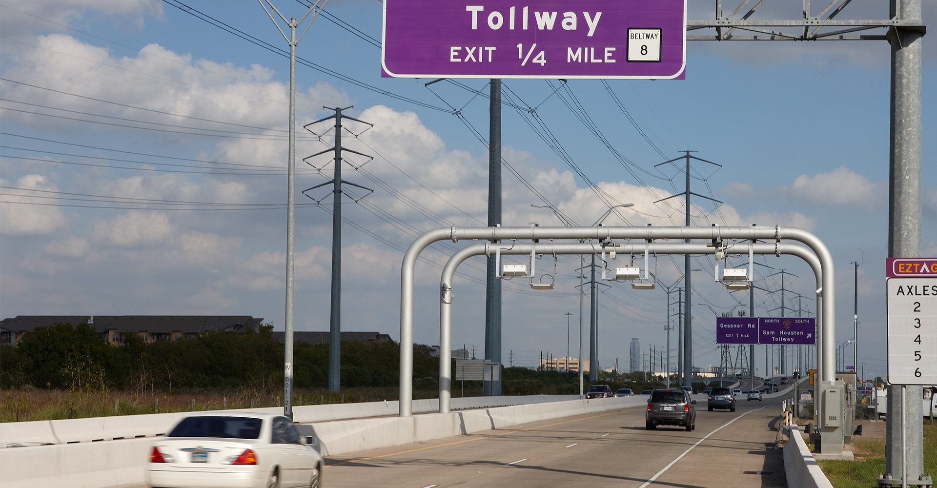 Fort Bend County Toll Road Authority work on Sam Houston tollway.