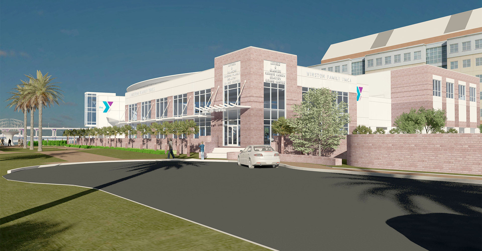 Exterior rendering of YMCA