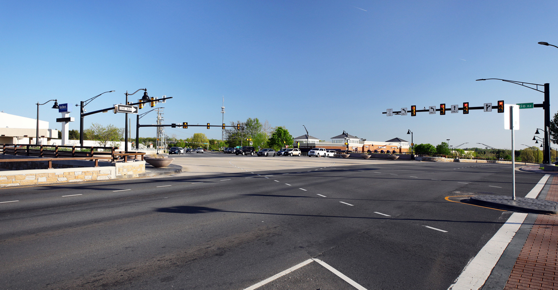 Route 29 and Rio Road Grade-Separated Intersection Image.
